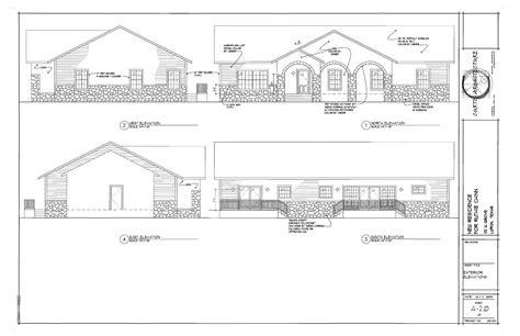 Residential Elevations Houses Plans Designs Residential Floor Plans And Elevations