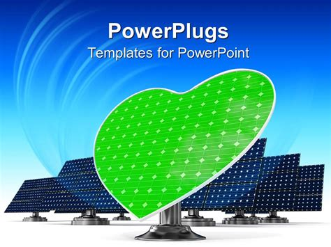 Powerpoint Template A Representation Of Solar Panels Along With A Heart In The Middle 26764 Solar Panel Powerpoint Template