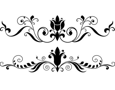 floral decor ornament floral decor photoshop brushes photoshop