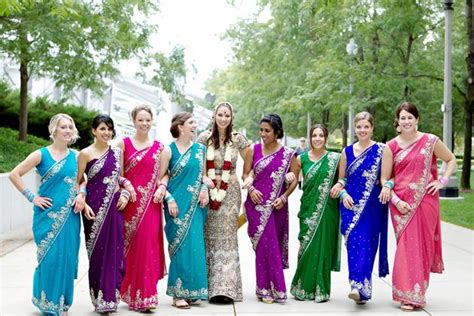 a colorful chicago wedding inspired by hindu and brides 10 indian bridesmaid dresses ideas indian fashion mantra