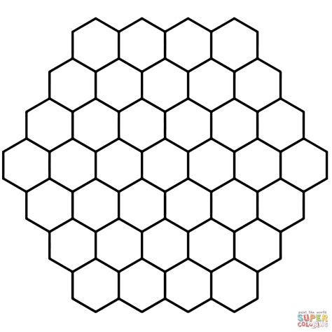 Hexagon Honeycomb Tessellation Coloring Page Free Hexagon Coloring Page