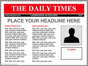 Newspaper Advertisement Template by Keynote Newspaper Templates K 5 Computer Lab