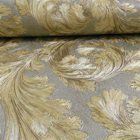 glitter vintage wallpaper arthouse safina feather pattern leaf metallic vinyl