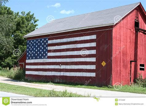 scheune gemalt white blue barn stock photo image 3114420