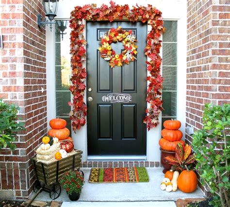 fall entrance decorating ideas colorful autumn additions for your outdoor home
