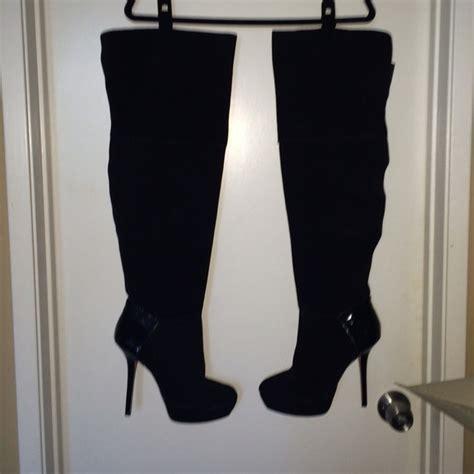 steve madden thigh high boots 71 steve madden boots steve madden black suede