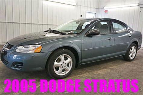 Buy Used Good Condition 2004 Dodge Stratus Sxt Charcoal