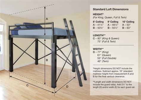High Clearance Bed Frame Loft Bed For Adults Francis Lofts Bunks