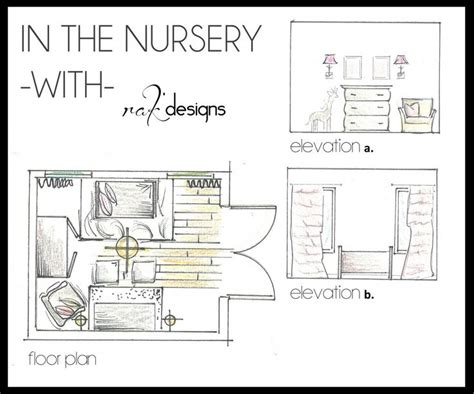 planning and layout of nursery nursery drawings floor plans and elevations by interior