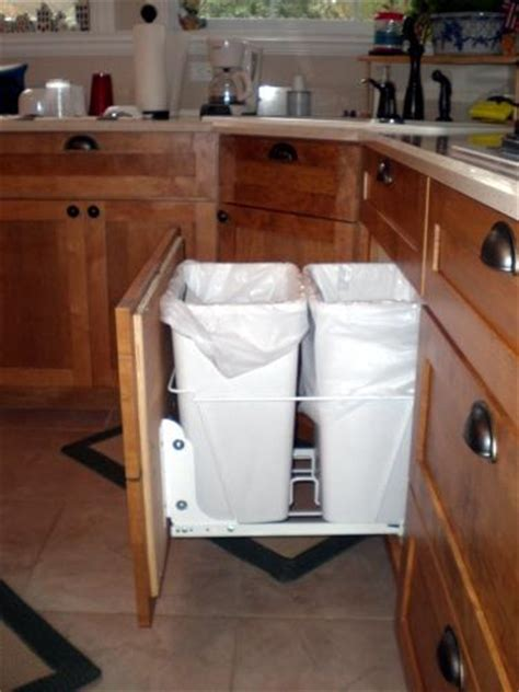 Waste Baskets For Kitchen Cabinets by Custom Cabinets Waste Basket Cabinet Maple Cabinets