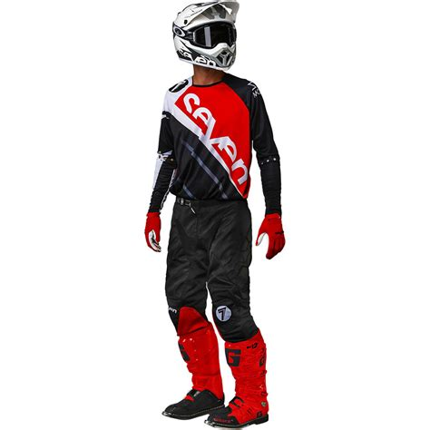 7 motocross gear 2018 seven mx rival militant gear kit red black sixstar