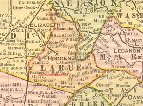 larue texas map larue county kentucky 1905 map hodgensville ky buffalo magnolia eagle mills ginseng