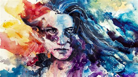 wallpaper girl painting cool girl art painting hd wallpapers