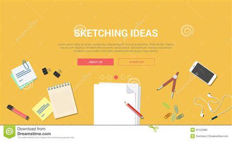 mockup design steps mockup modern flat design concept creative idea sketch