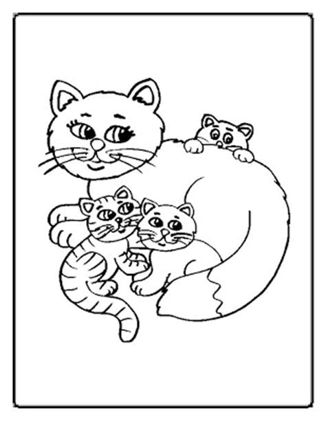 coloring pages funny cats family coloring page