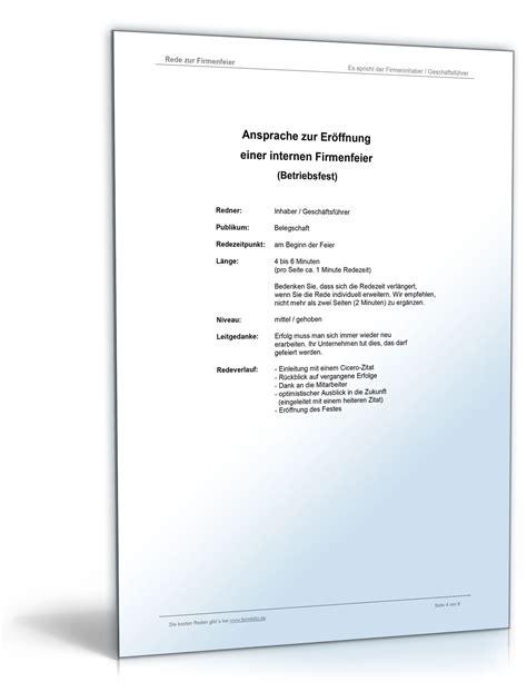 Muster Einladung Firma Muster Rede Betriebsfeier Vorlage Zum