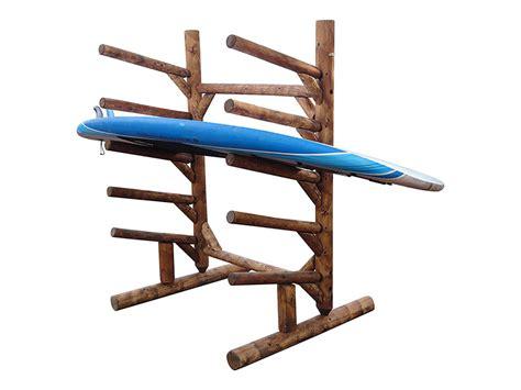 5 place freestanding sup floor rack log kayak racks