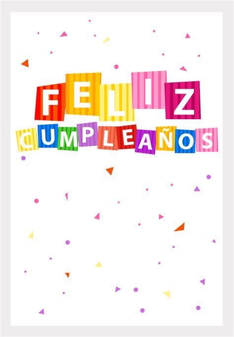 imagenes sin frases para cumpleaños tarjetas de confetti de cumplea 241 os para imprimir