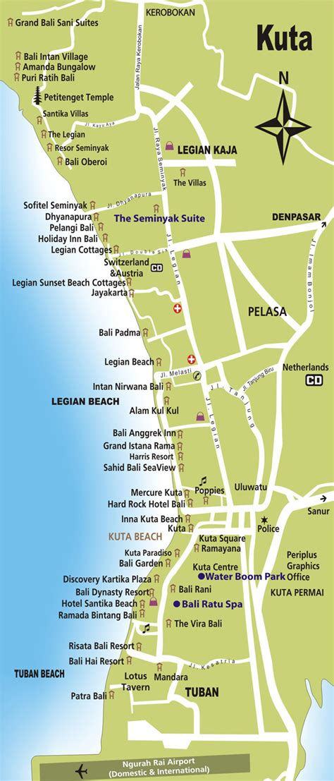 printable road map of bali image gallery kuta map