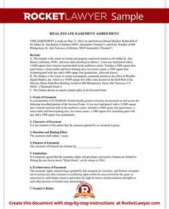Easement Agreement Template real estate easement agreement free contract form