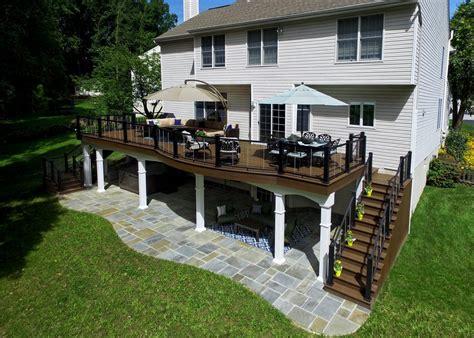 elevated deck designs safety features   ground decks
