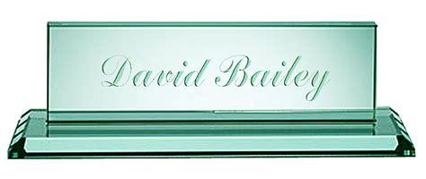 jade glass deskplate with glass base
