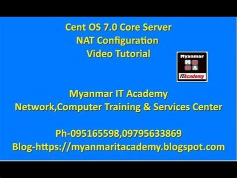 nat tutorial youtube centos 7 0 core server nat configuration video tutorial