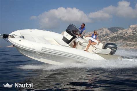 zodiac rubberboot huren huur rib zodiac nzo 680 bc bg in ma 243 menorca nautal