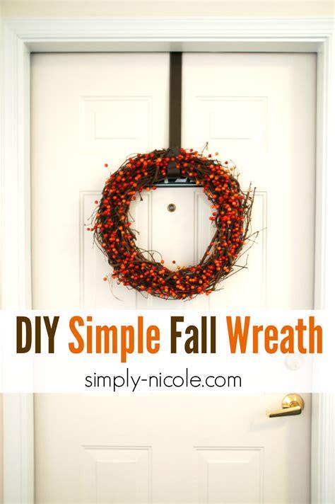 diy simple fall wreath simply