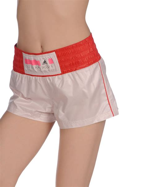 light pink shorts mens adidas by stella mccartney shorts in pink for light