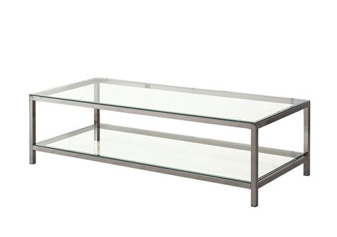Black Rectangular Coffee Table 720228 Black Nickel Rectangular Coffee Table From Coaster 720228 Coleman Furniture