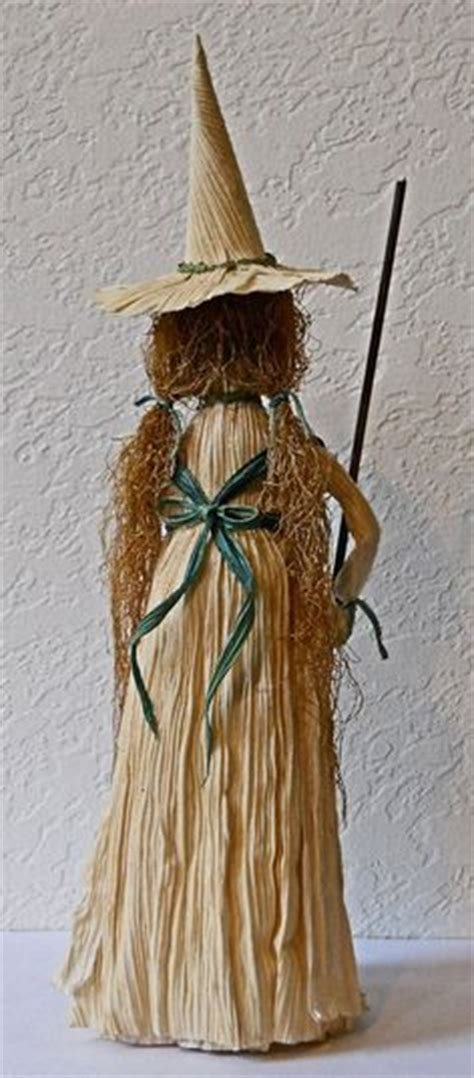 corn husk witch dolls kitchen witch corn husk doll with pumpkin broomstick