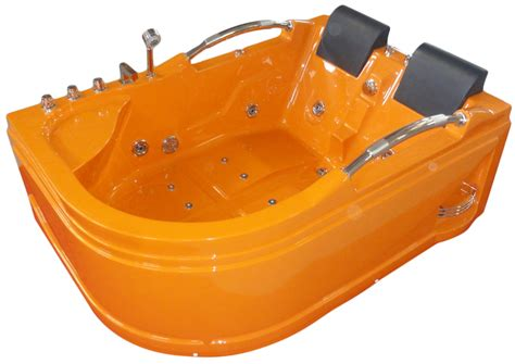 orange bathtub 70 8 quot x 47 2 quot orange hot tub with jacuzzi function