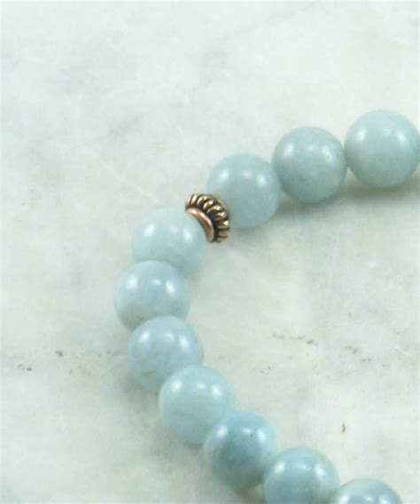 sea mala bead bracelet 21 aquamarine mala