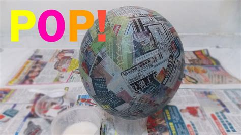What Can You Make Out Of Paper Mache - how to make a pinata base bowl sphere paper
