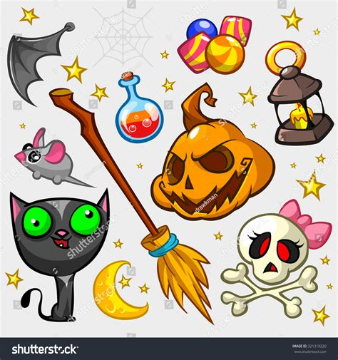 collection pumpkin attributes decoration witch