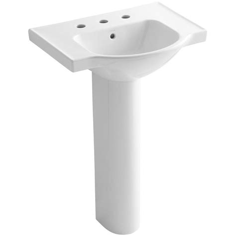 bathroom sink combo kohler veer 24 in vitreous china pedestal combo bathroom