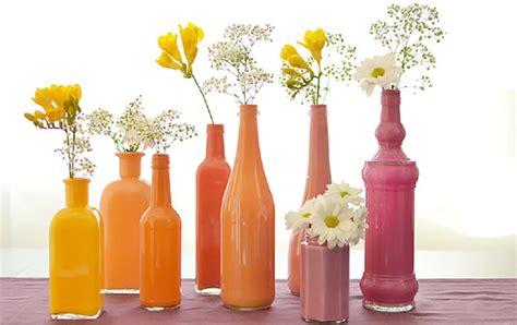 floreros y jarrones manualidades con jarrones de cristal