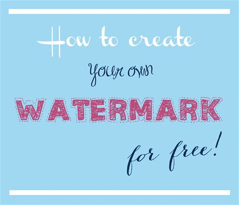 Photography Tip How To Create Your Own Watermark For Free