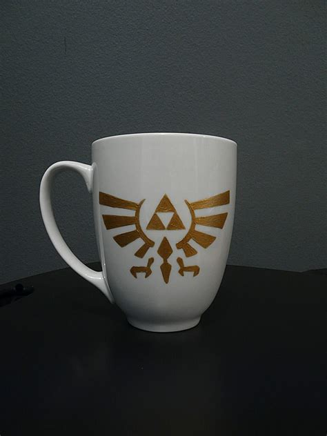 Legend Coffee gold triforce legend of painted ceramic coffee