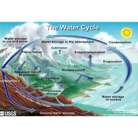 water cycle diagram a water cycle diagram helps to answer the question how