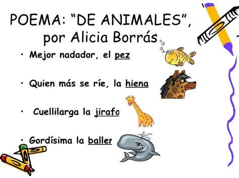 poema de los animales de 4 estrofas que rimen jugando a ser ilustradores en la biblioteca del creer