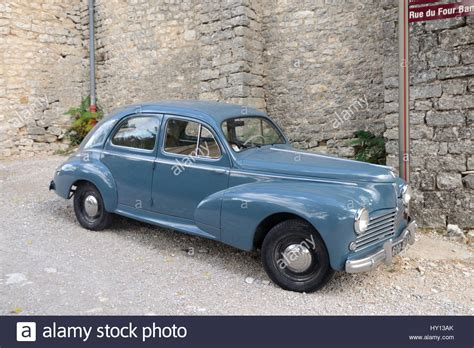vintage peugeot car veteran or vintage peugeot 203 car or automobile