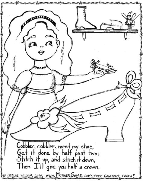 nursery rhymes coloring page az coloring pages