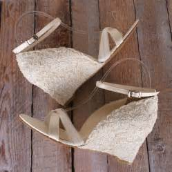 Ivory Wedge Wedding Shoes by Ivory Lace Wedding Shoes Wedge Wedding Shoes With A Tulle
