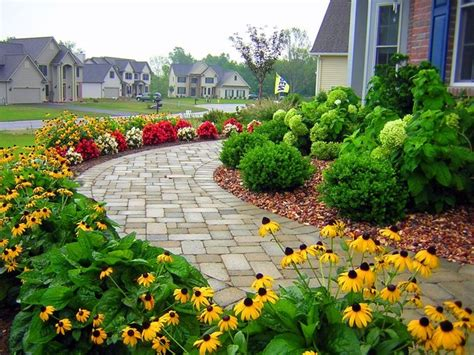 residential front sidewalk traditional landscape other metro by r m landscape inc