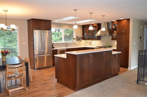 bi level kitchen ideas bothell split level home kitchen remodel transitional