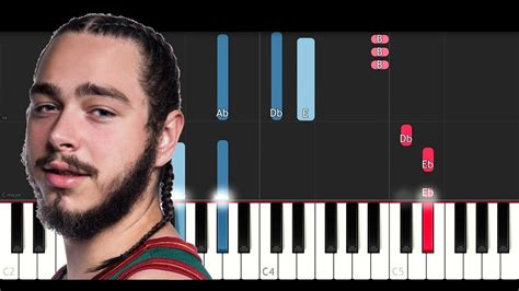tutorial keyboard fall for you post malone i fall apart piano tutorial youtube
