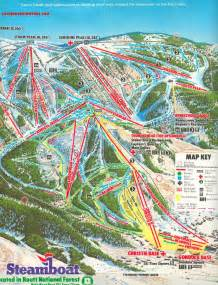 steamboat colorado trail map history of the steamboat ski area