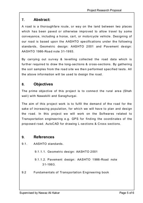 design proposal abstract project research proposal design of 4 5km road